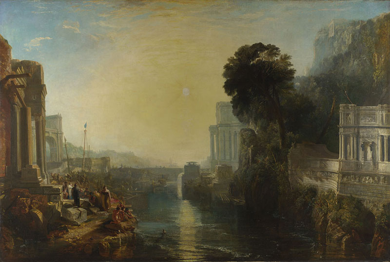 Turner inspired: in the light of Claude : Joseph Mallord William Turner. Dido building Carthage, or The Rise of the Carthaginian Empire. 1815, huile sur toile; 155 x 230 cm, Joseph Mallord William Turner. Dido building Carthage, or The Rise of the Carthaginian Empire. 1815, huile sur toile; 155 x